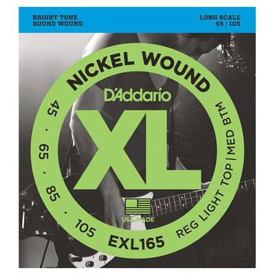 D'Addario EXL165 エレキベース弦 Regular Light Top / Medium Bottom Long 【ダダリオ】