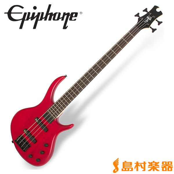 Epiphone Toby Deluxe IV Trans Red ベース 【エピフォン】