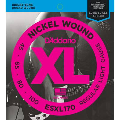 D'Addario ESXL170 ベース弦 XL Nickel Round Wound Long Scale ライトゲージ/Double Ball 045-100 【ダダリオ】