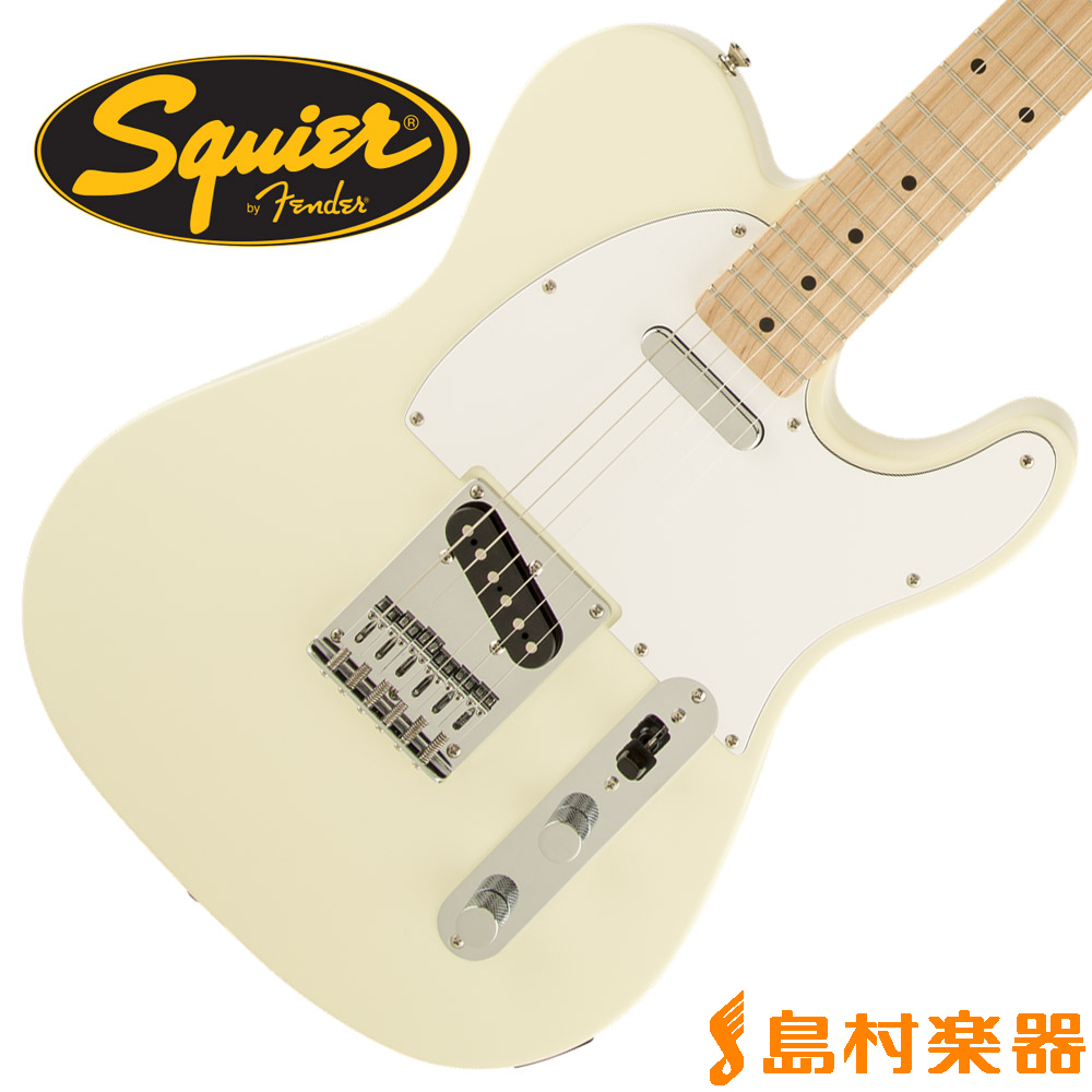 Squier by Fender Affinity Series Telecaster Maple Fingerboard AWT テレキャスター 【スクワイヤー / スクワイア】