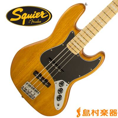 Squier by Fender Vintage Modified Jazz Bass 77 Maple Fingerboard AMB(アンバー) ジャズベース 【スクワイヤー / スクワイア】
