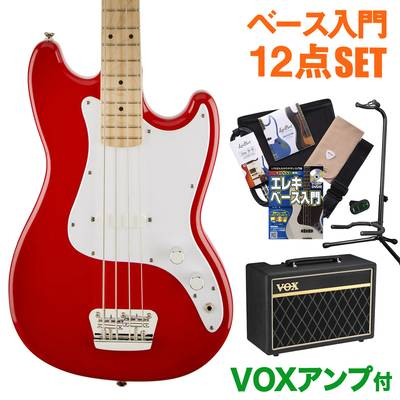 Squier by Fender Bronco Bass Maple Fingerboard TRD(トリノレッド) VOXアンプセット ベース 初心者 セット ベース 【スクワイヤー / スクワイア】【オンラインストア限定】
