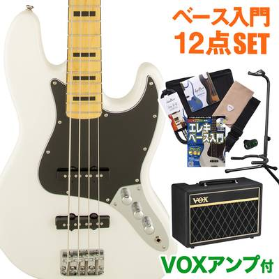 Squier by Fender Vintage Modified Jazz Bass 70s Maple Fingerboard OWT(オリンピックホワイト) VOXアンプセット ベース 初心者 セット ジャズベース 【スクワイヤー / スクワイア】【オンラインストア限定】