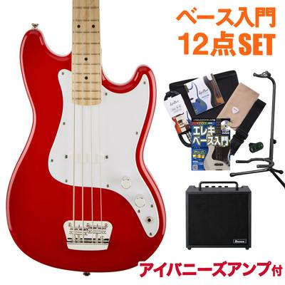 Squier by Fender Bronco Bass Maple Fingerboard TRD(トリノレッド) アイバニーズアンプセット ベース 初心者 セット ベース 【スクワイヤー / スクワイア】【オンラインストア限定】
