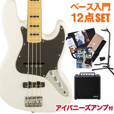 Squier by Fender Vintage Modified Jazz Bass 70s Maple Fingerboard OWT(オリンピックホワイト) アイバニーズアンプセット ベース 初心者 セット ジャズベース 【スクワイヤー / スクワイア】【オンラインストア限定】