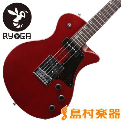 RYOGA BUMBLE-F6V Translucent Pearl Red エレキギター 【リョウガ】