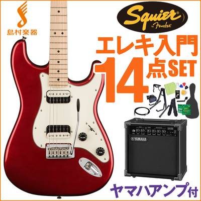 Squier by Fender Contemporary Stratocaster HH Dark Metallic Red エレキギター 初心者14点セット 【ヤマハアンプ付き】 ストラトキャスター 【スクワイヤー / スクワイア】【オンラインストア限定】