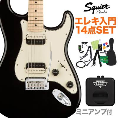 Squier by Fender Contemporary Stratocaster HH Black Metallic エレキギター 初心者14点セット 【ミニアンプ付き】 ストラトキャスター 【スクワイヤー / スクワイア】【オンラインストア限定】