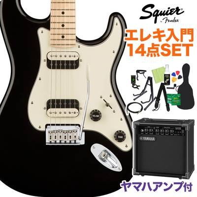Squier by Fender Contemporary Stratocaster HH Black Metallic エレキギター 初心者14点セット 【ヤマハアンプ付き】 ストラトキャスター 【スクワイヤー / スクワイア】【オンラインストア限定】
