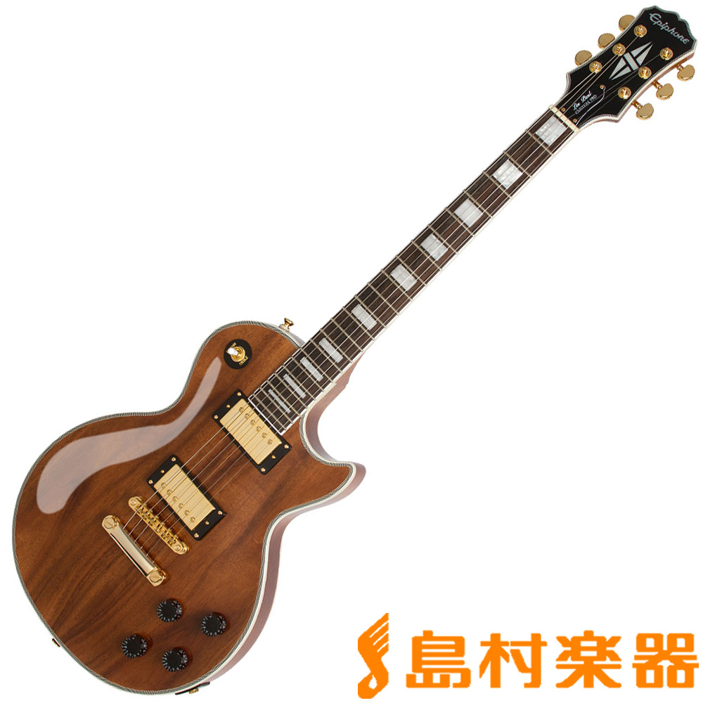 Epiphone Limited Edition Les Paul Custom PRO KOA Natural レスポール エレキギター 【エピフォン】