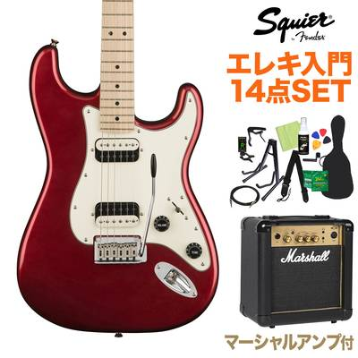 Squier by Fender Contemporary Stratocaster HH Dark Metallic Red エレキギター 初心者14点セット 【マーシャルアンプ付き】 【スクワイヤー / スクワイア】【オンラインストア限定】