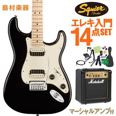 Squier by Fender Contemporary Stratocaster HH Black Metallic エレキギター 初心者14点セット 【マーシャルアンプ付き】 【スクワイヤー / スクワイア】【オンラインストア限定】
