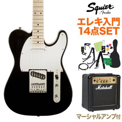 Squier by Fender Affinity Telecaster BLK エレキギター 初心者14点セット 【マーシャルアンプ付き】 【スクワイヤー / スクワイア】【オンラインストア限定】