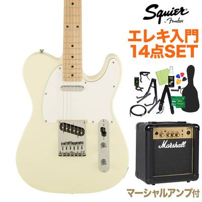 Squier by Fender Affinity Telecaster AWT エレキギター 初心者14点セット 【マーシャルアンプ付き】 【スクワイヤー / スクワイア】【オンラインストア限定】