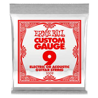 ERNiE BALL 1009 エレキギター/アコギ弦 009 プレーンスチール 【バラ弦1本】 【アーニーボール】