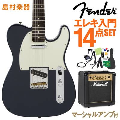 Fender Made in Japan Hybrid 60s Telecaster Midnight Blue エレキギター 初心者14点セット 【マーシャルアンプ付き】 【フェンダー】【オンラインストア限定】