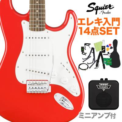 Squier by Fender Affinity Series Stratocaster Laurel Fingerboard Race Red エレキギター 初心者14点セット 【ミニアンプ付き】 ストラトキャスター 【スクワイヤー / スクワイア】【オンラインストア限定】