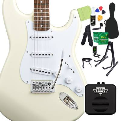 Squier by Fender Bullet Strat with Tremolo Laurel Fingerboard Arctic White エレキギター 初心者14点セット 【ミニアンプ付き】 ストラトキャスター 【スクワイヤー / スクワイア】【オンラインストア限定】