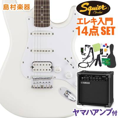 Squier by Fender Bullet Stratocaster HSS Hard Tail Laurel Fingerboard Arctic White エレキギター 初心者14点セット 【ヤマハアンプ付き】 ストラトキャスター 【スクワイヤー / スクワイア】【オンラインストア限定】