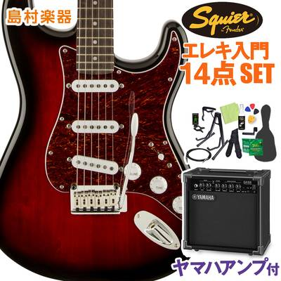 Squier by Fender Standard Stratocaster Laurel Fingerboard Antique Burst エレキギター 初心者14点セット 【ヤマハアンプ付き】 ストラトキャスター 【スクワイヤー / スクワイア】【オンラインストア限定】