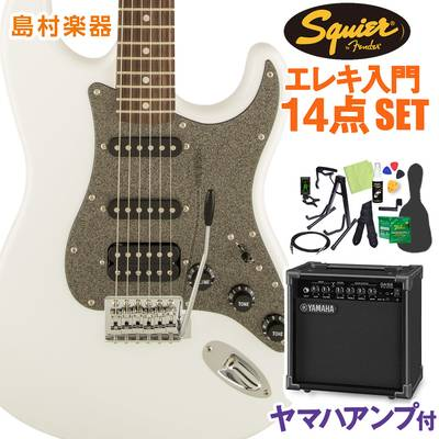 Squier by Fender Affinity Series Stratocaster HSS Laurel Fingerboard Olympic White エレキギター 初心者14点セット 【ヤマハアンプ付き】 ストラトキャスター 【スクワイヤー / スクワイア】【オンラインストア限定】