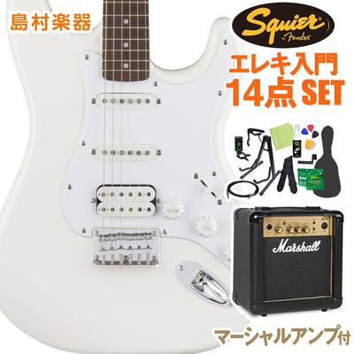 Squier by Fender Bullet Stratocaster HSS Hard Tail Laurel Fingerboard Arctic White エレキギター 初心者14点セット 【マーシャルアンプ付き】 ストラトキャスター 【スクワイヤー / スクワイア】【オンラインストア限定】