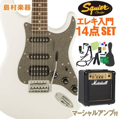Squier by Fender Affinity Series Stratocaster HSS Laurel Fingerboard Olympic White エレキギター 初心者14点セット 【マーシャルアンプ付き】 ストラトキャスター 【スクワイヤー / スクワイア】【オンラインストア限定】
