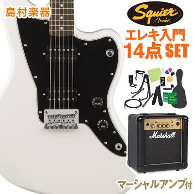 Squier by Fender Affinity Series Jazzmaster HH Laurel Fingerboard Arctic White エレキギター 初心者14点セット 【マーシャルアンプ付き】 ジャズマスター 【スクワイヤー / スクワイア】【オンラインストア限定】
