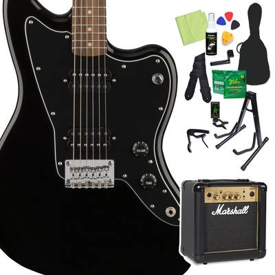 Squier by Fender Affinity Series Jazzmaster HH Laurel Fingerboard Black エレキギター 初心者14点セット 【マーシャルアンプ付き】 ジャズマスター 【スクワイヤー / スクワイア】【オンラインストア限定】