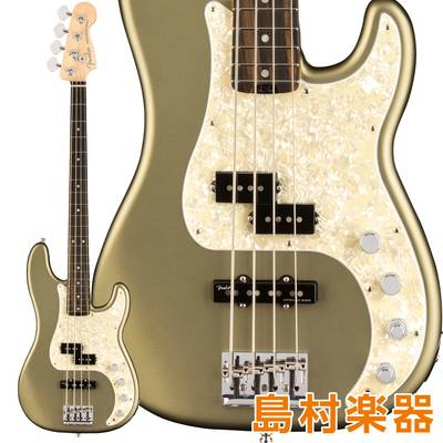 Fender American Elite Precision Bass Ebony Fingerboard Satin Jade Pearl Metallic エレキベース 【フェンダー】