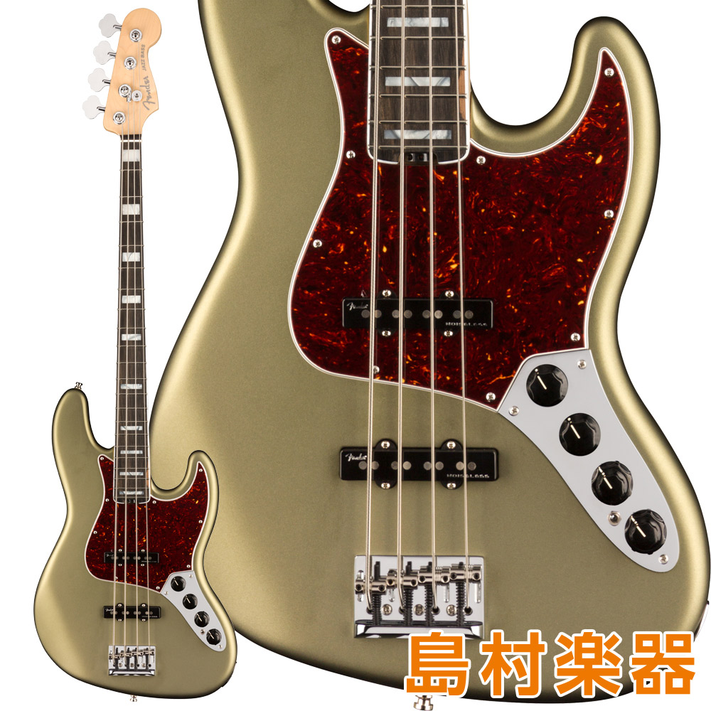 Fender American Elite Jazz Bass Ebony Fingerboard Satin Jade Pearl Metallic エレキベース 【フェンダー】