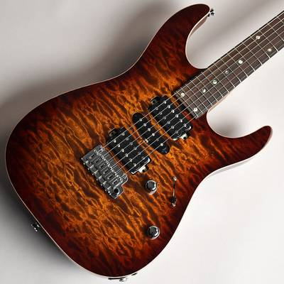 T's Guitars DST-24 Quilt Top Rosted Flame Maple Neck Tiger Eye Burst S/N:031597 【ティーズギター】【未展示品】