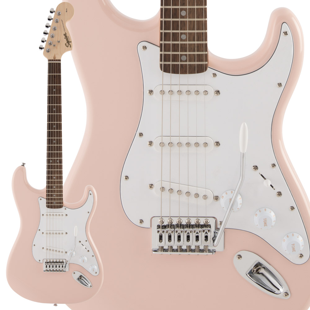Squier by Fender FSR Affinity Series Stratocaster Laurel Fingerboard Shell Pink エレキギター ストラトキャスター 【スクワイヤー / スクワイア】【数量限定品】