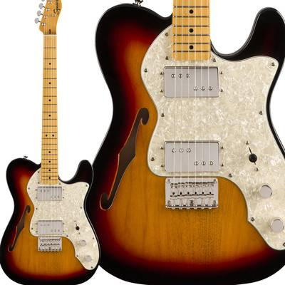 Squier by Fender Classic Vibe '70s Telecaster Thinline Maple Fingerboard 3-Color Sunburst エレキギター テレキャスター 【スクワイヤー / スクワイア】