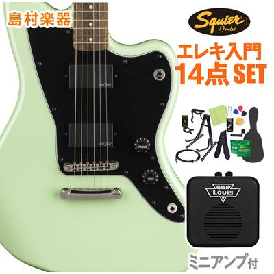 Squier by Fender Contemporary Active Jazzmaster HH ST, Laurel Fingerboard, Surf Pearl 初心者14点セット 【ミニアンプ付き】 エレキギター ジャズマスター 【スクワイヤー / スクワイア】【オンラインストア限定】