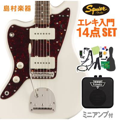 Squier by Fender Classic Vibe '60s Jazzmaster Left-Handed, Laurel Fingerboard, Olympic White 初心者14点セット 【ミニアンプ付き】 エレキギター ジャズマスター レフトハンド 【スクワイヤー / スクワイア】【オンラインストア限定】