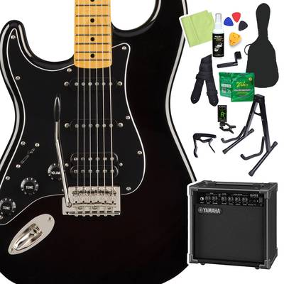 Squier by Fender Classic Vibe '70s Stratocaster HSS Left-Handed, Maple Fingerboard, Black 初心者14点セット 【ヤマハアンプ付き】 エレキギター ストラトキャスター レフトハンド 【スクワイヤー / スクワイア】【オンラインストア限定】