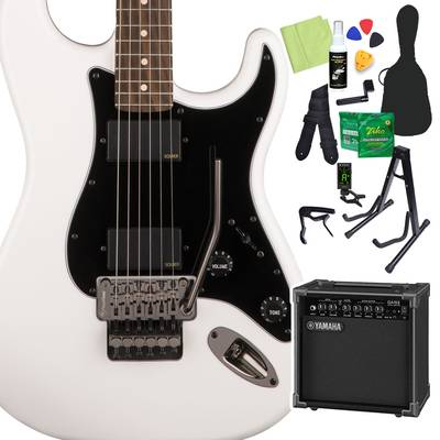 Squier by Fender Contemporary Active Stratocaster HH, Laurel Fingerboard, Olympic White 初心者14点セット 【ヤマハアンプ付き】 エレキギター ストラトキャスター 【スクワイヤー / スクワイア】【オンラインストア限定】