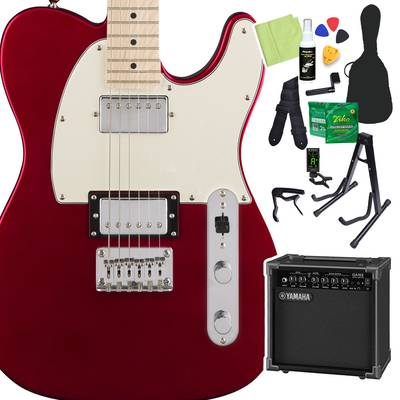 Squier by Fender Contemporary Telecaster HH, Maple Fingerboard, Dark Metallic Red 初心者14点セット 【ヤマハアンプ付き】 エレキギター テレキャスター 【スクワイヤー / スクワイア】【オンラインストア限定】