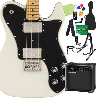 Squier by Fender Classic Vibe '70s Telecaster Deluxe, Maple Fingerboard, Olympic White 初心者14点セット 【ヤマハアンプ付き】 エレキギター テレキャスター 【スクワイヤー / スクワイア】【オンラインストア限定】