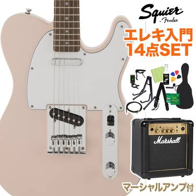 Squier by Fender FSR Affinity SeriesTelecaster Laurel Fingerboard Shell Pink 初心者14点セット 【マーシャルアンプ付き】 エレキギター テレキャスター 【スクワイヤー / スクワイア】【オンラインストア限定】