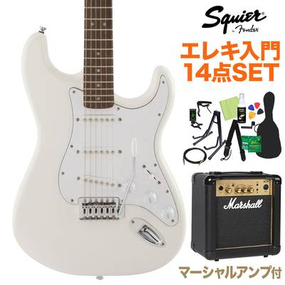 Squier by Fender FSR Affinity SeriesStratocaster Laurel Fingerboard Olympic White 初心者14点セット 【マーシャルアンプ付き】 エレキギター ストラトキャスター 【スクワイヤー / スクワイア】【オンラインストア限定】