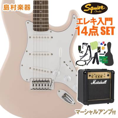 Squier by Fender FSR Affinity SeriesStratocaster Laurel Fingerboard Shell Pink 初心者14点セット 【マーシャルアンプ付き】 エレキギター ストラトキャスター 【スクワイヤー / スクワイア】【オンラインストア限定】