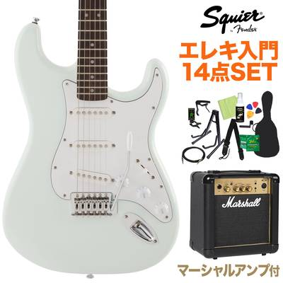Squier by Fender FSR Affinity Series Stratocaster Laurel Fingerboard Sonic Blue 初心者14点セット 【マーシャルアンプ付き】 エレキギター ストラトキャスター 【スクワイヤー / スクワイア】【オンラインストア限定】