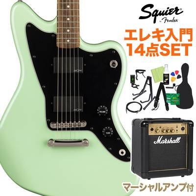 Squier by Fender Contemporary Active Jazzmaster HH ST, Laurel Fingerboard, Surf Pearl 初心者14点セット 【マーシャルアンプ付き】 エレキギター ジャズマスター 【スクワイヤー / スクワイア】【オンラインストア限定】