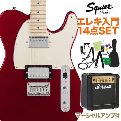 Squier by Fender Contemporary Telecaster HH, Maple Fingerboard, Dark Metallic Red 初心者14点セット 【マーシャルアンプ付き】 エレキギター テレキャスター 【スクワイヤー / スクワイア】【オンラインストア限定】