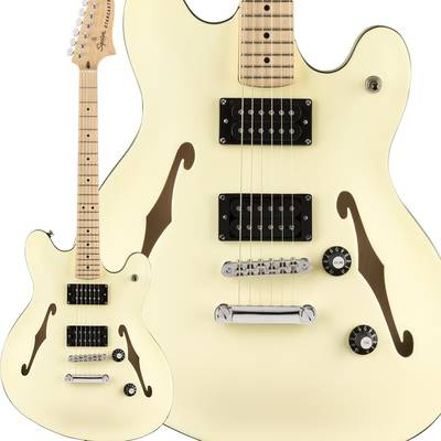 Squier by Fender Affinity Series Starcaster Maple Fingerboard Olympic White スターキャスター 【スクワイヤー / スクワイア】
