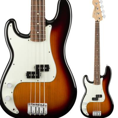 Fender Player Precision Bass Left-Handed, Pau Ferro Fingerboard, 3-Color Sunburst プレシジョンベース 【フェンダー】