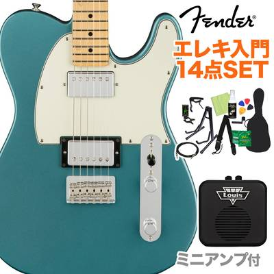 Fender Player Telecaster HH Maple Fingerboard Tidepool 初心者14点セット 【ミニアンプ付き】 テレキャスター 【フェンダー】【オンラインストア限定】
