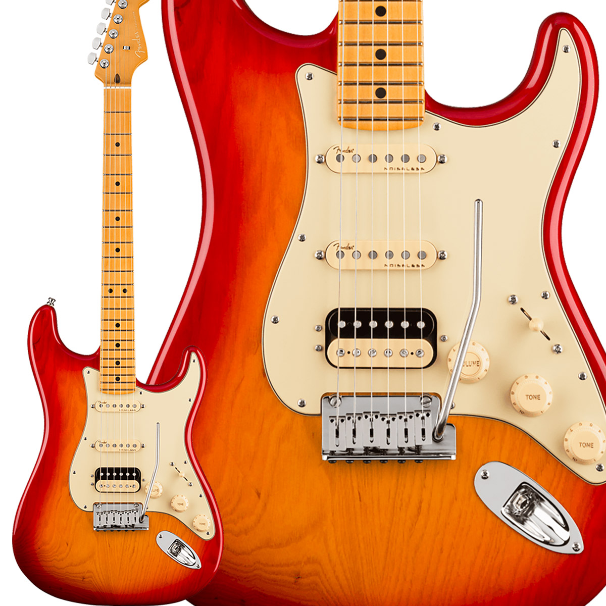 Fender American Ultra Stratocaster HSS Maple Fingerboard Plasma Red ストラトキャスター 【フェンダー】